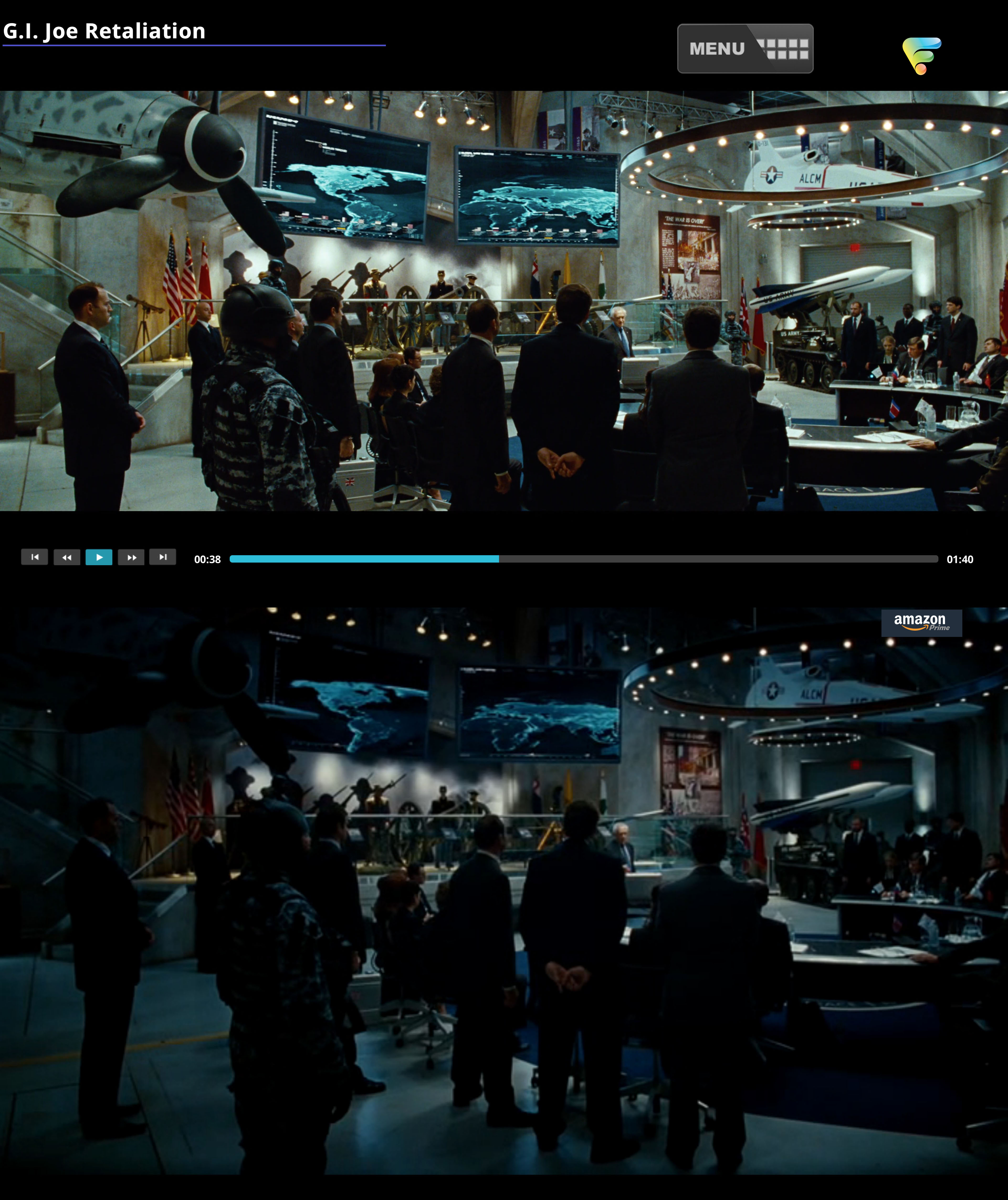 GI Joe Retaliation Compared to Amazon Prime